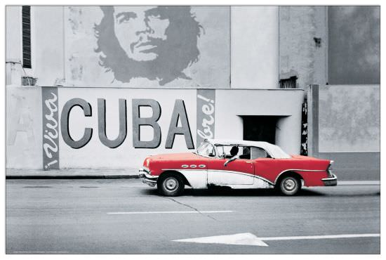 Quadro Decorativo Car In Cuba