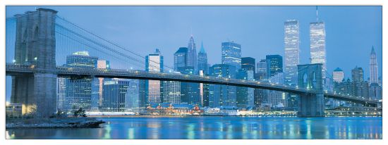Quadro Decorativo Brooklyn Bridge To Downtown Manhttan