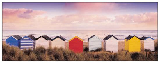 Quadro Decorativo Winter Beach Huts Southwold