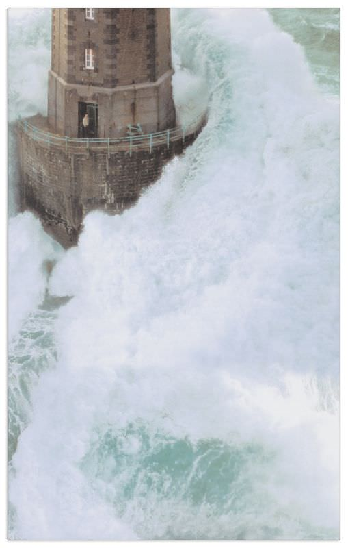 Quadro Decorativo StormSwept Lighthouse