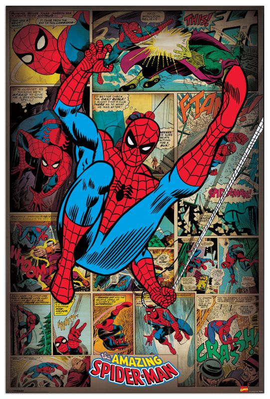 Quadro Decorativo SpiderMan Retro