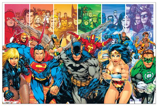 Quadro Decorativo Justice League America Generations