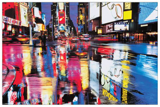Quadro Decorativo Times Square Colours