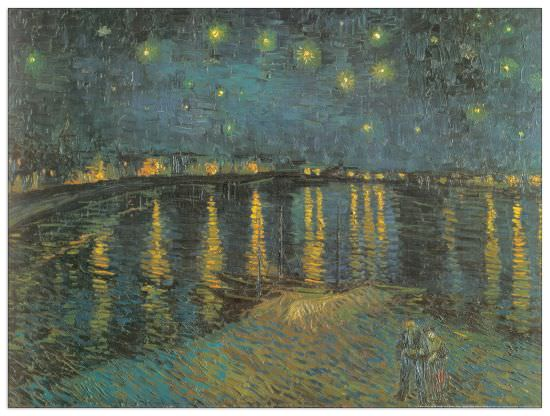 Quadro Decorativo Starry Night 1888