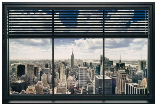 Quadro Decorativo New York Window Blinds