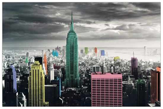 Quadro Decorativo New York Colour Splash