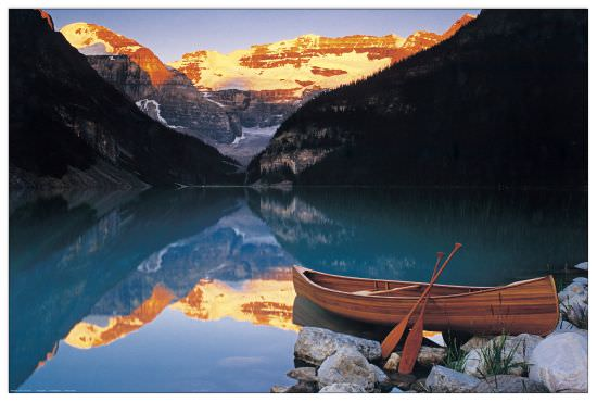 Quadro Decorativo Canoe On Lake Louise