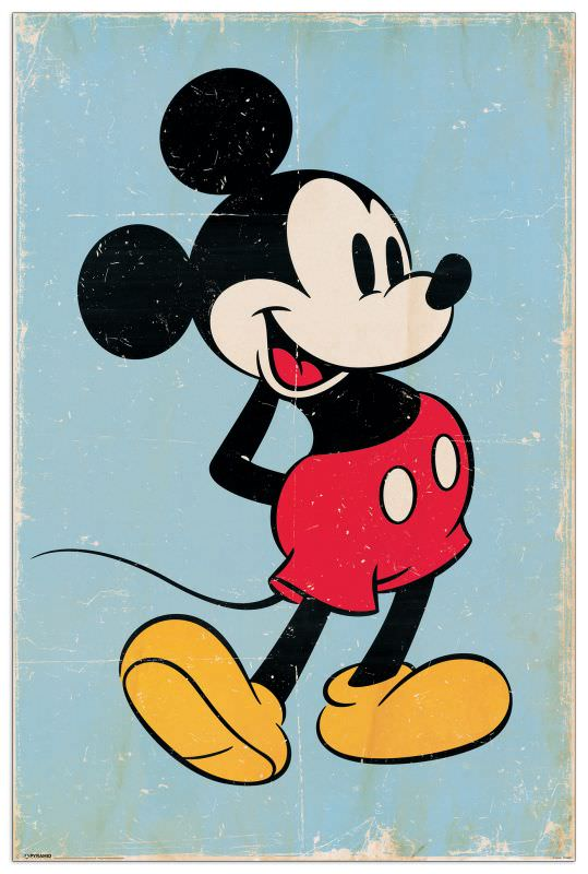 Quadro Decorativo Mickey Mouse Retro