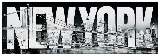 Quadro Decorativo New York Typeface