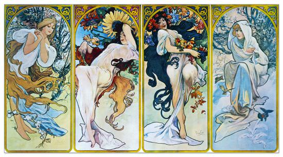 Quadro Decorativo Les Saisons 1897