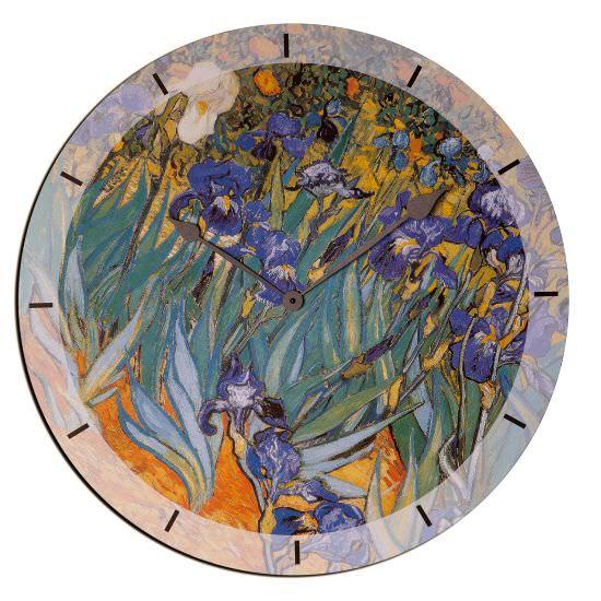 Orologio In Legno Irises