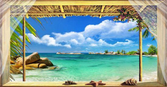 Affresco trasferibile Finestra sul Mar dei Caraibi