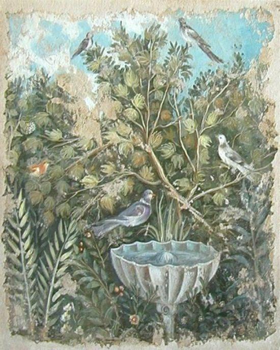 Affresco a strappo Flora con Fontana Pompei