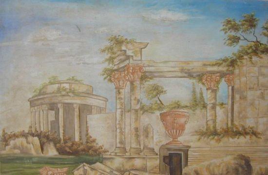 Affresco a strappo Città romana