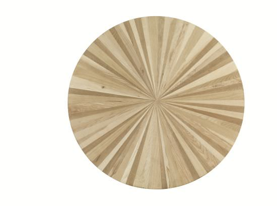Round inlaid table top