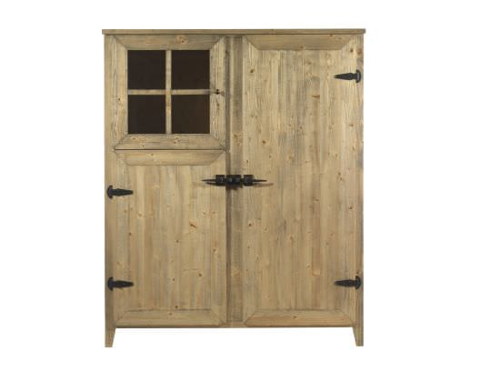 Wooden sideboard with 3 doors and 4 shel
