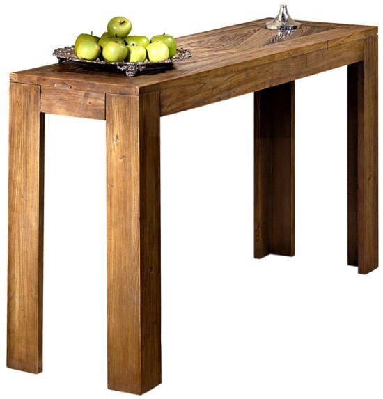 Myrtle wooden console table with inlays