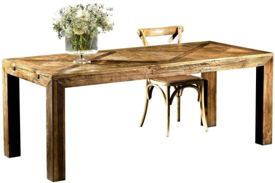 Olmo 200 dining table in old wood