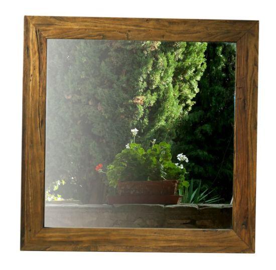 Specchio da muro quadrato Sesamo in olmo