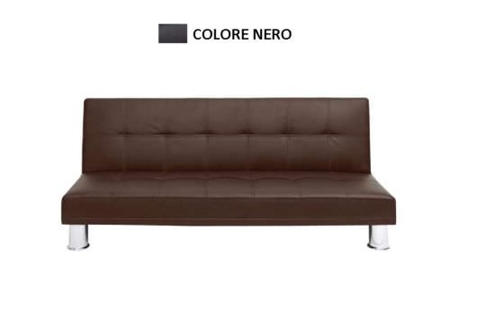 Sidney sofa in black faux leather