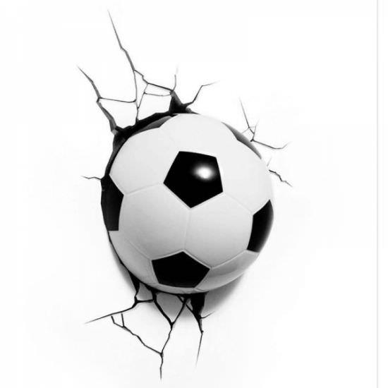 Lampada 3D Pallone da calcio