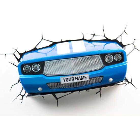 Lampada 3D Auto da corsa blu