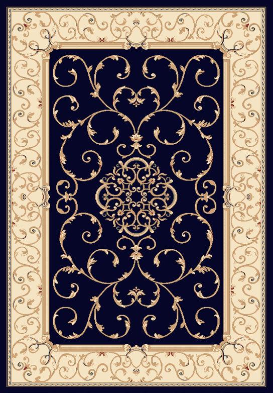 Tappeto Ninfea Blu e Beige 120x170 cm
