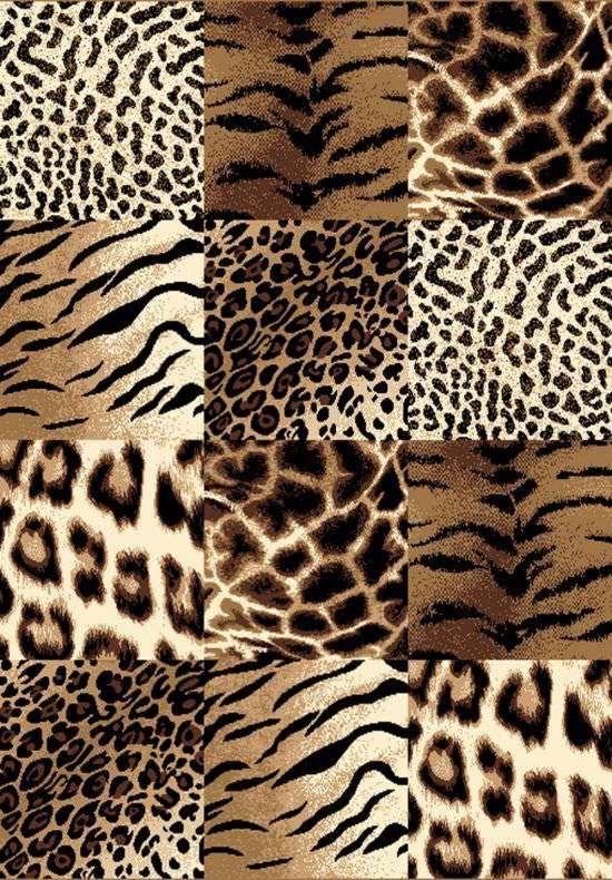 Tappeto maculato marrone Savana 115x160