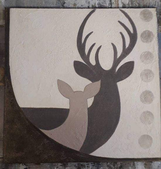 Dipinto Sagoma di cervi