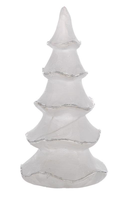 Albero ghiaccio argento e luci h 20