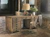 Bureau à absinthe en pin en vieux bois