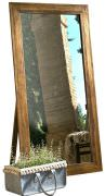 Old wood floor mirror