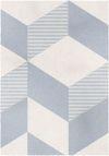 Tappeto Nordic Bianco e Azzurro 120x170