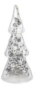 Albero decori argento e luci h 165
