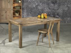 Extending table in old elm wood