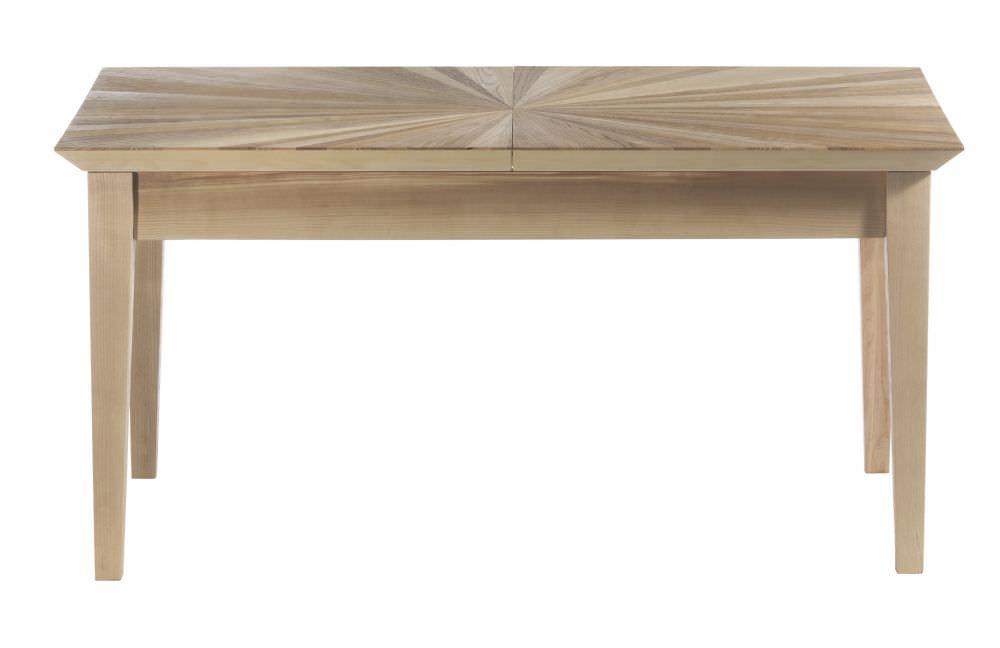 Tavolo Da Pranzo Allungabile Piano Legno.Tavolo Con Piano Intarsiato Rettangolare E Allungabile
