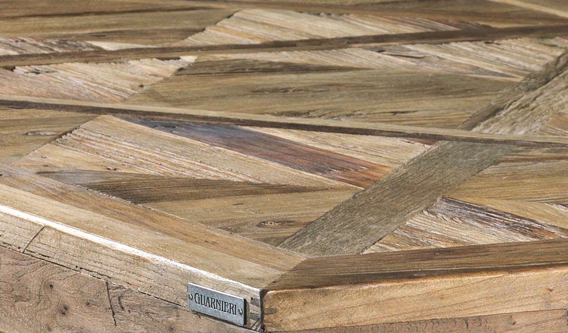 Tavolo Da Pranzo Olmo 160 Cm Con Piano Ad Intarsio