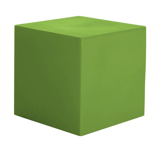 Coffee table Cube 41 cm in Green Resin