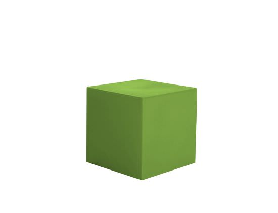 Coffee table Cube 55 cm in Green Resin